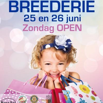 Zondag 26 juni zal de winkel geopend zijn van 13u30 tot 18u